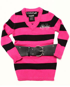 Mecca Girls - ANGELA BELTED SWEATER (2T-4T)