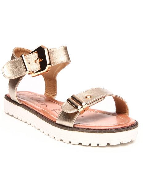 Fashion Lab Gold Buckle Strap Sandal