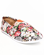 Women - FLORAL CANVAS FLAT