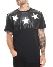 Buyers Picks - Cut & Sewn Faux leather Croc Stars Tee