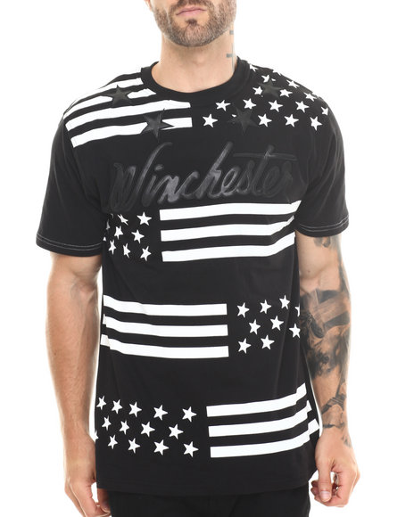 Winchester - Men Black Winchester All Over Stars Premium Tee