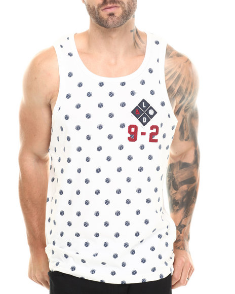 Lemar & Dauley Off White Slam Dots Tank Top