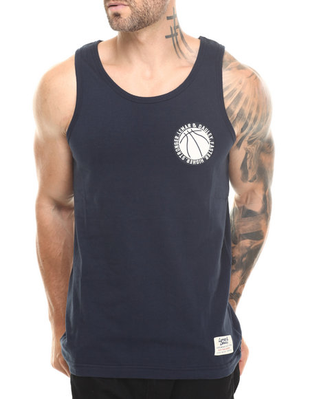 Lemar & Dauley - Men Navy Jesus Shuttleworth Tank Top (Thick Stitch)