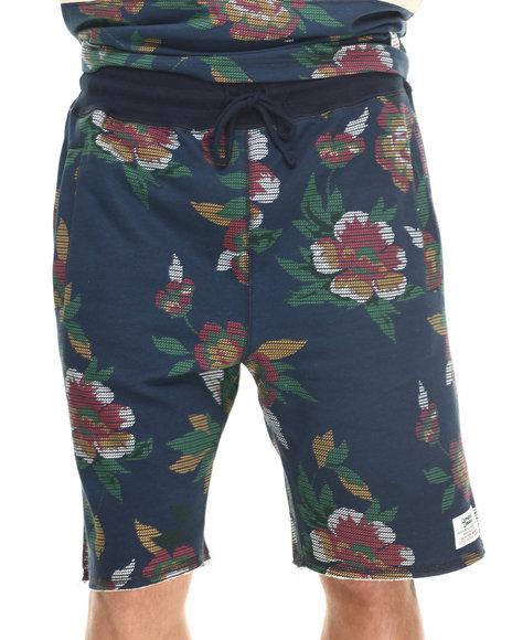 Lemar & Dauley Multi,Navy Coachella Floral Sweatshorts