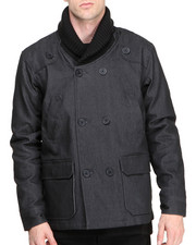 BLVCK SCVLE - Shipwreck Waxed Denim Peacoat
