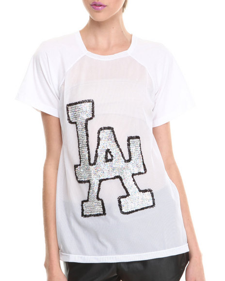 This Is A Love Song - Women White Home Run Top - $38.99
