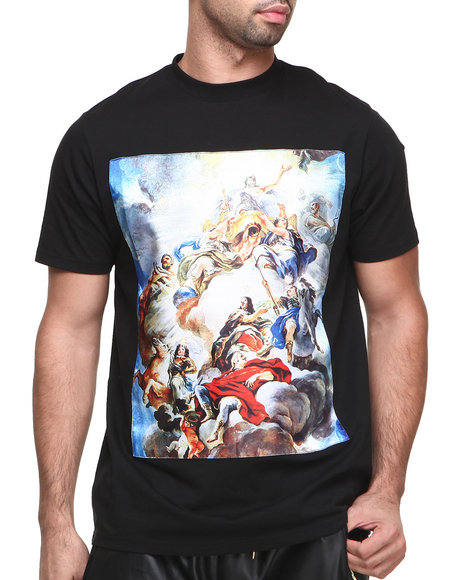 Dnine Reserve - Men Black Satin Triumphant Tee - $65.99