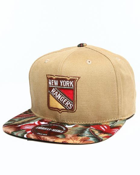 American Needle New York Rangers Retreat Floral Snapback Hat Tan