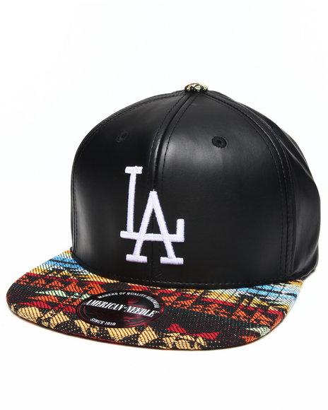 American Needle Men Los Angeles Dodgers Sleek Strapback Hat Black - $30.00