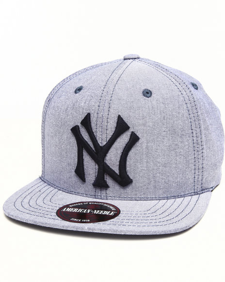 American Needle Men New York Yankees The Sound Strapback Hat Blue - $20.99