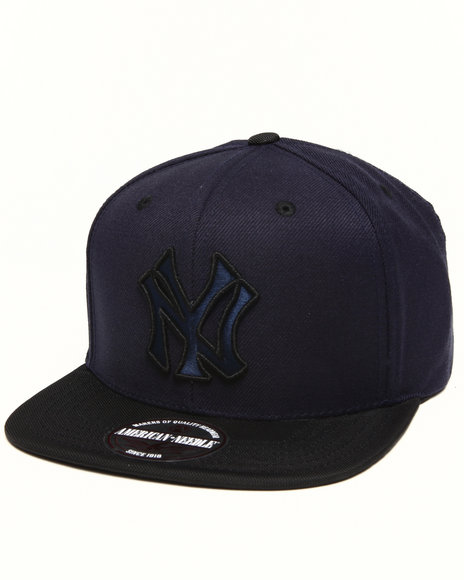 American Needle Men New York Yankees Three Timer Ballisitic Strapback Navy