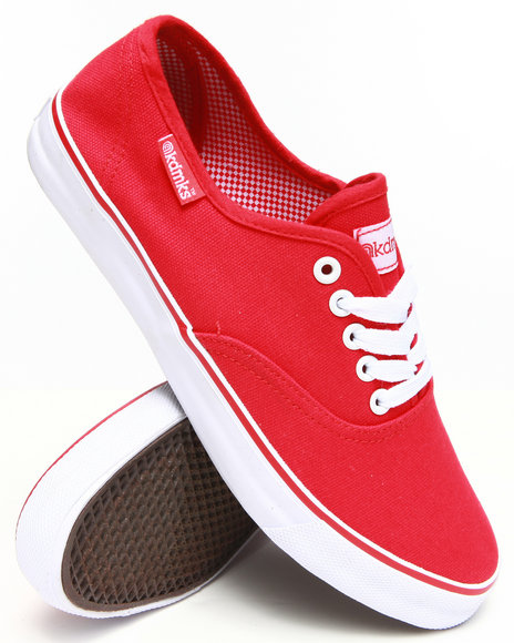 Akademiks - Men Red Zack Classic Canvas Shoe