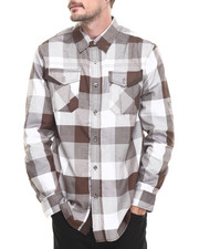 Men - MO7 PLAID WOVEN L/S SHIRT
