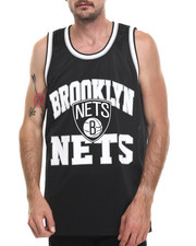 Mitchell & Ness - Brooklyn Nets NBA Drop Step Mesh Tank Top