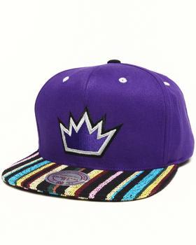 Mitchell & Ness - Sacramento Kings Native Stripe 2 Tone Canvas Snapback Hat