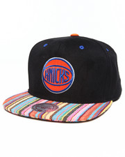Men - New York Knicks Native Stripe 2 Tone Canvas Snapback Hat