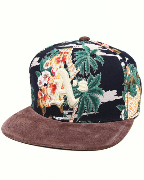 American Needle Men Oakland Athletics Haven Floral Strapback Hat Multi