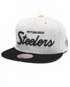 Mitchell & Ness - Pittsburgh Steelers Special Script Road grey snapback hat