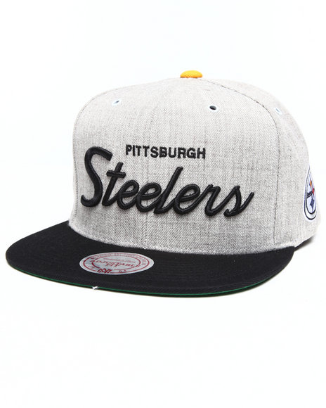 Mitchell & Ness Pittsburgh Steelers Special Script Road Grey Grey