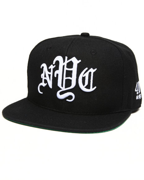 40 Oz Nyc Nyc Snapback Hat Black