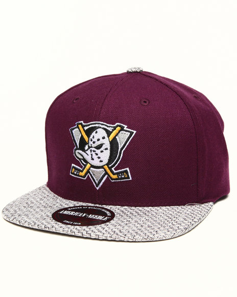 Ur-ID 222890 American Needle - Men Purple Mighty Ducks Hatch Strapback Hat