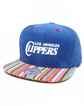 Mitchell & Ness - Los Angeles Clippers Native Stripe 2 Tone Canvas Snapback Hat
