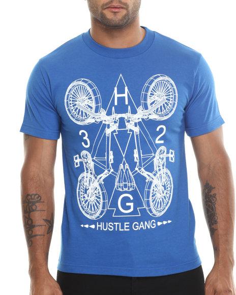 Hustle Gang Blue,White Mission Tee