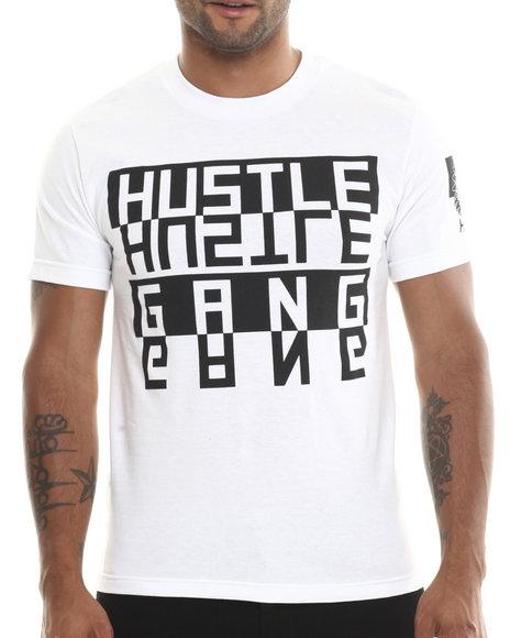 Hustle Gang White Flipped Tee