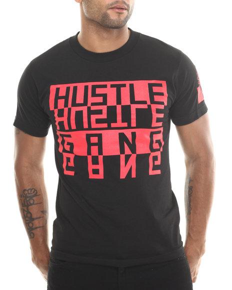 Hustle Gang Black,Red Flipped Tee