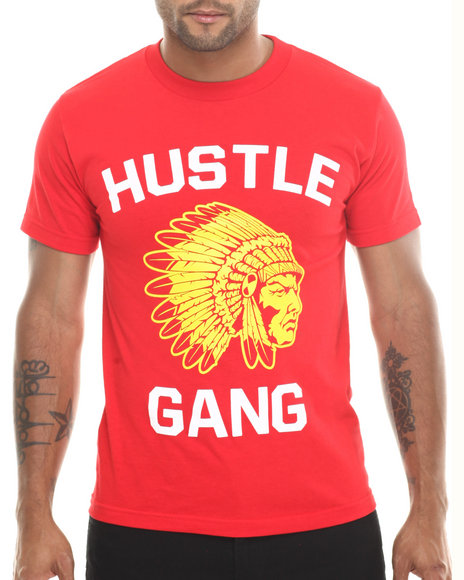 Hustle Gang Red,Yellow The Game Tee