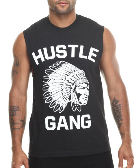Hustle Gang Black,White The Game Muscle Tee