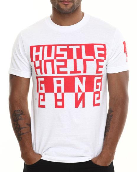 Hustle Gang Red,White Flipped Tee