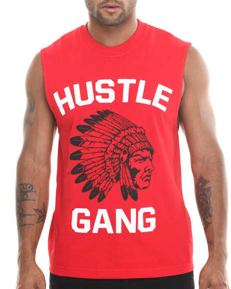 Hustle Gang - Men Red The Game Muscle Tee