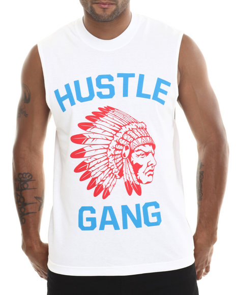 Hustle Gang - Men Red,White The Game Muscle Tee