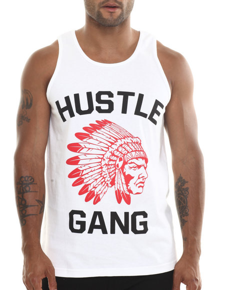 Hustle Gang Red,White The Game Tank