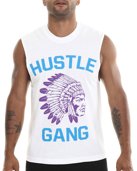Hustle Gang Purple,White The Game Muscle Tee