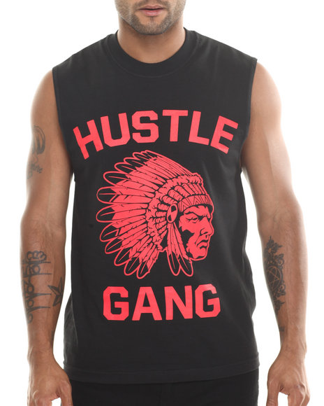 Hustle Gang Black,Red The Game Muscle Tee