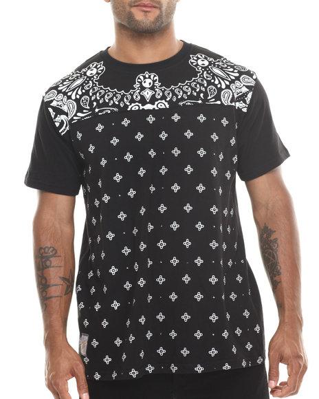 Rolling Paper - Men Black Cut & Sew T-Shirt