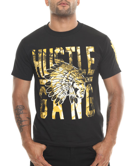 Hustle Gang Black,Gold Scale Tee