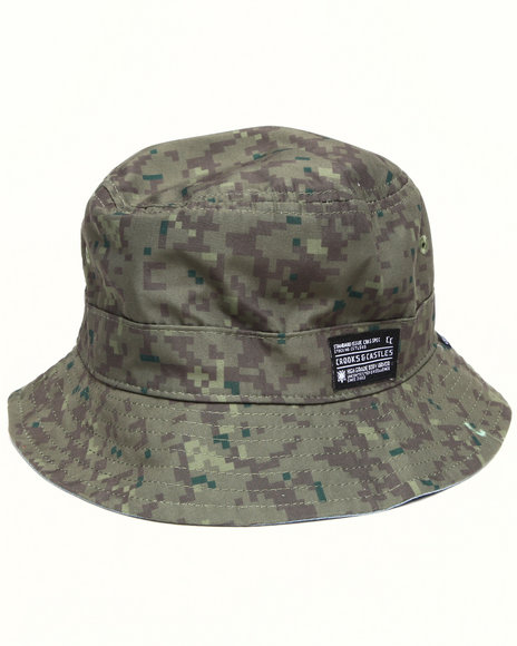 Crooks & Castles Camo Digi Camo Reversible Bucket Hat