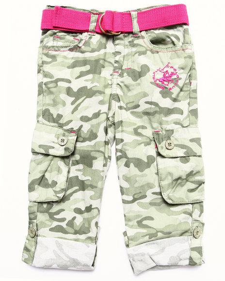 La Galleria - Girls Olive Camo Cargo Pant (2T-4T)