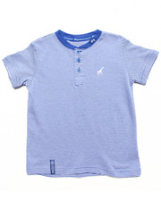 Tops - STRIPED HENLEY TEE (2T-4T)