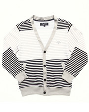 Sweaters - STRIPED CARDIGAN (8-20)
