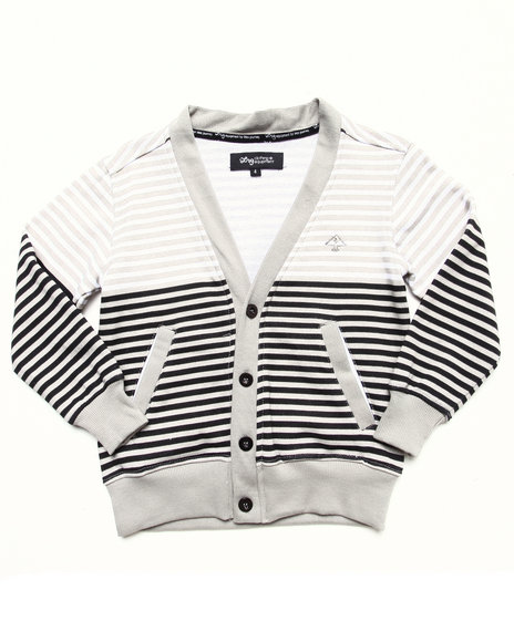 LRG Boys White Striped Cardigan (4-7)