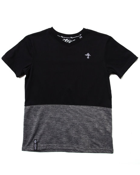 LRG Boys Black V-Neck Tee (8-20)