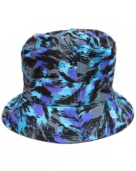 Crooks & Castles - Men Camo Cerulean Camo Bucket Hat