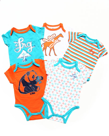 LRG Boys Multi 5 Pc Creeper Set (Newborn)