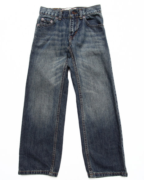 Levi's Boys Medium Wash 505 Straight Fit
