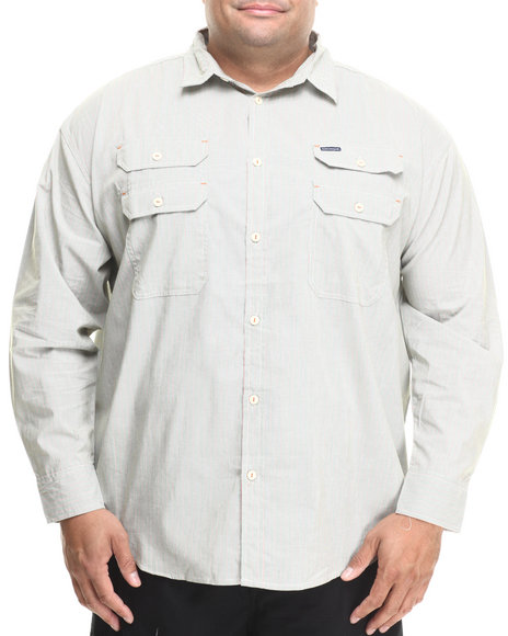 Rocawear White Utility L/S Button-Down