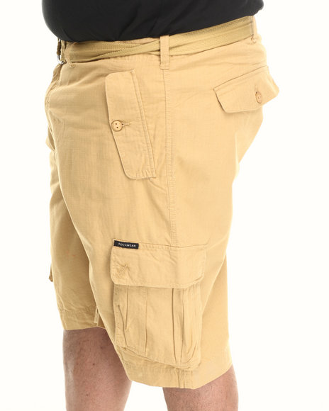 Rocawear - Men Khaki Blueprint 2 Cargo Shorts (B & T)
